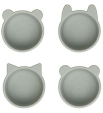 Liewood Bowls - Silicone - Malene - 4 pcs. - Dove Blue
