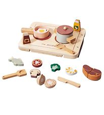 Petit Monkey Toy Kitchen - 17 Parts - Wood