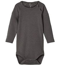 Name It Bodysuit l/s - NbmTrots - Dark Shadow