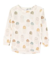 Joha Blouse - Ivory w. Aquarius