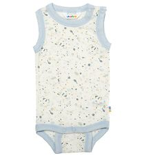 Joha Bodysuit Sleeveless - Ivory w. Grey/Blue