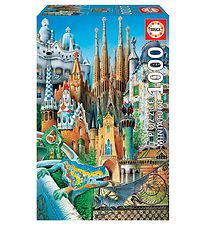 Educa Puzzle - 1000 Pieces - Gaudi Collage