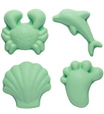 Scrunch Sand molds - 4 pcs. - Silicone - Light Dusty Green