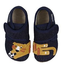 Livings Kitzbühel Slippers - Night Blue w. Tiger