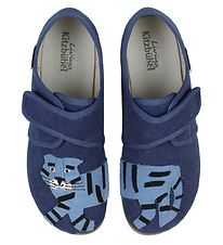 Living Kitzbühel Slippers - Navy w. Tiger