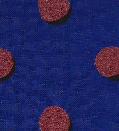 ferm Living Blanket - 160x120 - Navy w. Dots