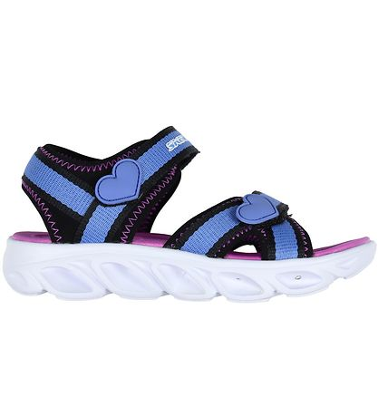 Skechers Sandals - Girls Hypno-Flash - Blue/Purple w. Blinkers
