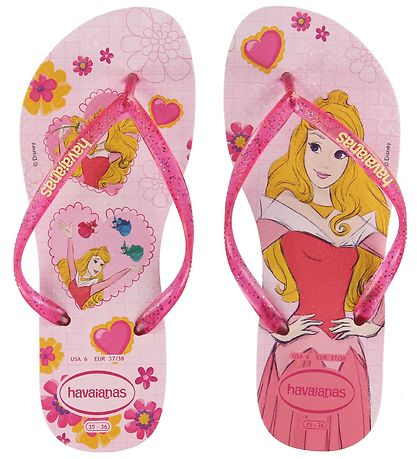 Havaianas Flip Flops - Kids Slim Princess - Cream Rose/Lollipop
