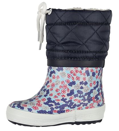 Aigle Thermo Boots - Giboulee Print - Sandy Blue