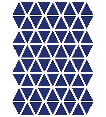 ferm Living Wallstickers - Triangle - Blue