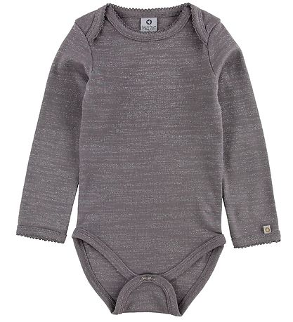 Smallstuff Bodysuit L/S - Purple w. Glitter