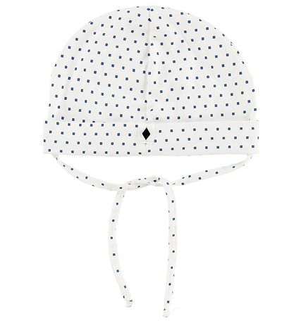 MP Baby Hat - White w. Squares