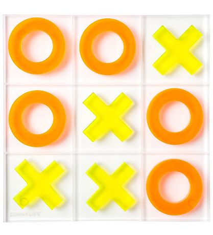 SunnyLife Game - Tic Tac Toe - 20x22 - Orange/Yellow