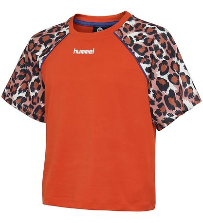 Hummel Teens T-shirt - Katrine - Orange w. Leo