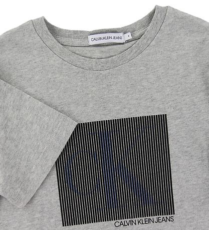 Calvin Klein T-shirt - Monogram Box - Grey Melange