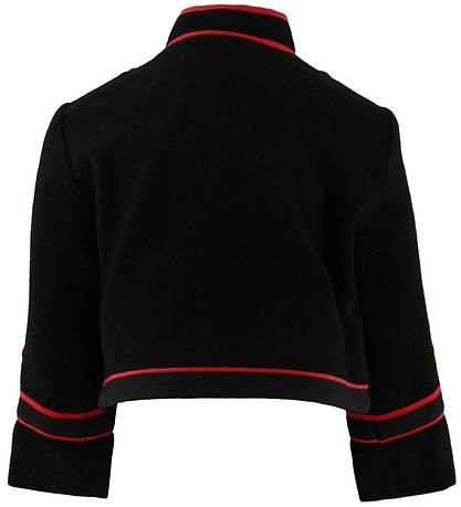 Stella McCartney Kids Jacket - Viscose/Wool/Cotton - Black/Red