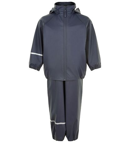 CeLaVi Rainwear w. Suspenders - Recycled PU - Dark Navy