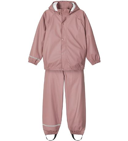 Name It Rainwear w. Suspenders - Noos - Wistful Mauve