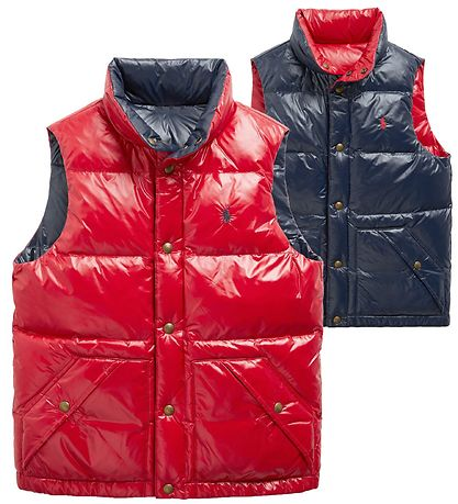 Polo Ralph Lauren Down Gilet - Reversible - Hawthorn - Red/Navy