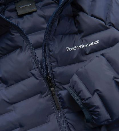 Peak Performance Padded Jacket - Jr Argon Light Hood - Blue Shad