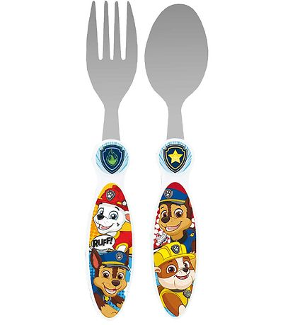 Paw Patrol Cutlery - Spoon/Fork - Marshall, Rubble & Chase