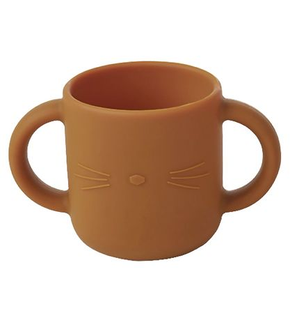 Liewood Cups - 2-pack - Gene - Silicone - Cat Dark Rose