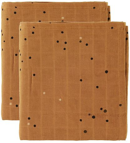 Done By Deer Swaddle - 120x120 - 2-pack - Dreamy Dots - Mustard