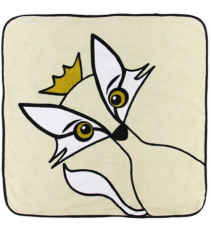 babyLivia Hooded Towel - Rudy the Fox - 75x75 -  Beige