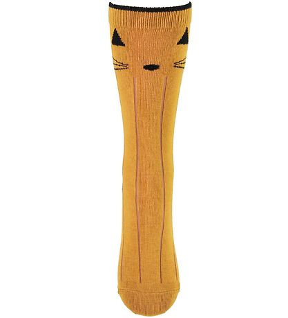 Liewood Knee High Socks - Sofia - Cat - Mustard