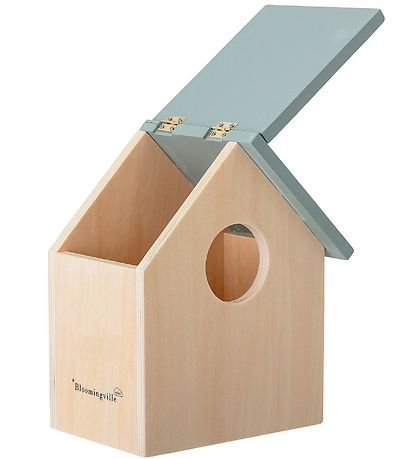 Bloomingville Storage Box - Birdhouse - Nature/Grey