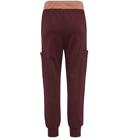 Hummel Teens Trousers - Note - Bordeaux