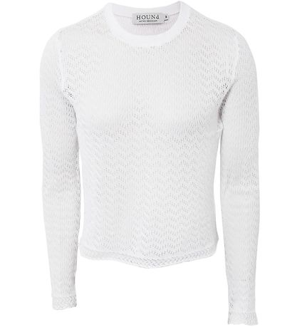 Hound Jumper - Cropped - White w. Pointelle