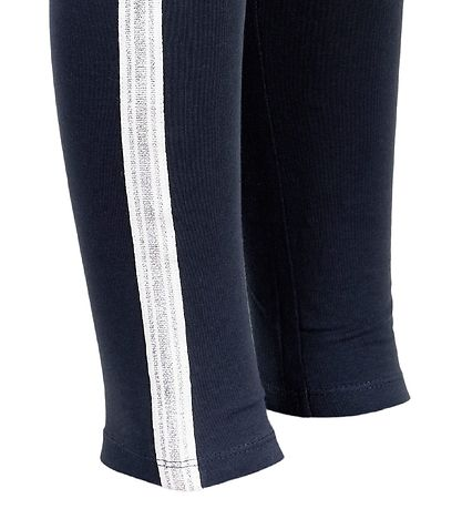 Creamie Leggings - 3/4 - Total Eclipse w. Glitter Stripe