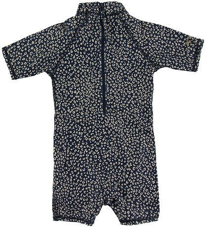 Soft Gallery Coverall Swimsuit - UV50+ - Rey - Dress Blue w. Leo