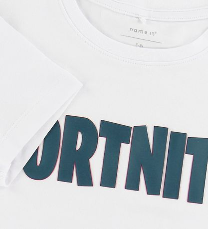 Name It T-shirt - Zachary - White w. Fortnite