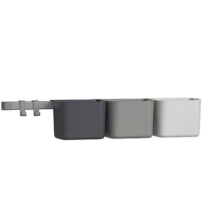 Leander Storage Boxes - 3 pcs./1 Long Rail - Dusty Grey