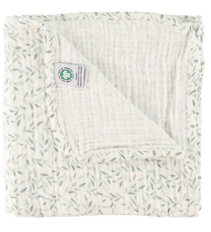 Cam Cam Blanket - 100x100 - Green Leaves