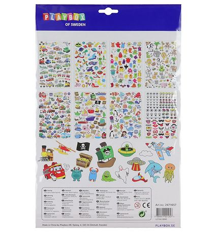 Playbox Stickers - 500 pcs. - Vehicles/Boats/Animals/And More
