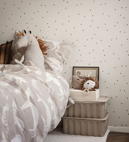 ferm Living Duvet Cover - Baby - Sand Coloured w. Animals