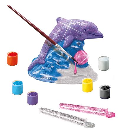 SES Creative - Casting And Painting - Glitter Dolphin