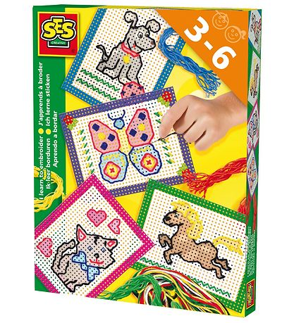 SES Creative Embroidery Set - Animal Motifs