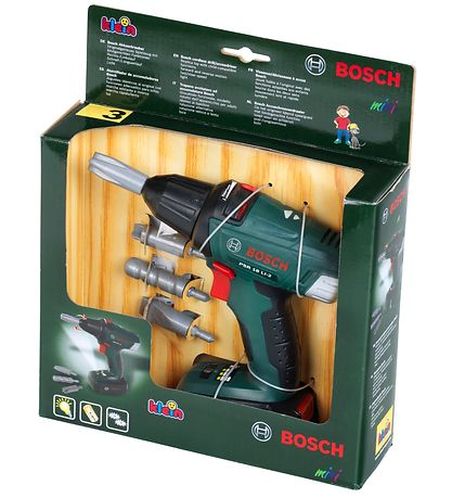 Bosch Mini Large Screwdriver w. Light/Sound - Toys - Green