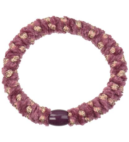 Kknekki Hair Tie - Purple/Gold Velour w. Glitter