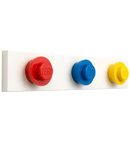 Lego Storage Wall Hanger Rack - 33 cm - Red/Blue/Yellow
