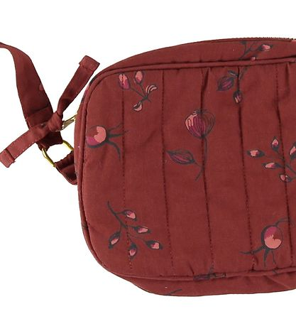 Soft Gallery Shoulder Bag - Mini Quilt - Red w. Flowers