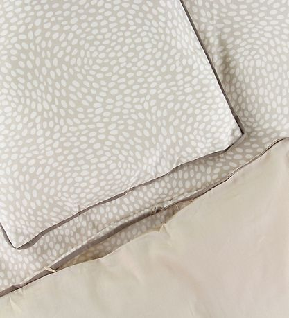 Pine Cone Duvet Cover - Baby - Camel w. Dots