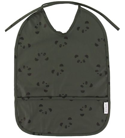 Liewood Bib - Lai - PU - Panda Hunter Green