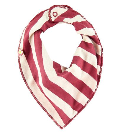 Katvig Teething Bib - Red w. Stripes