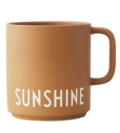 Design Letters Cup - Favourite - Mustard w. Sunshine