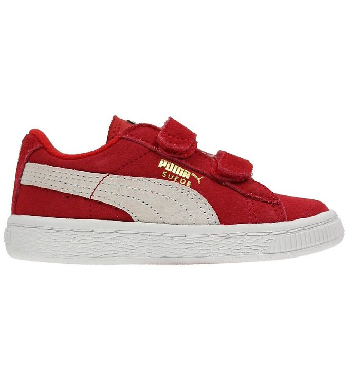 Puma Sneakers - Suede - Red w. Velcro